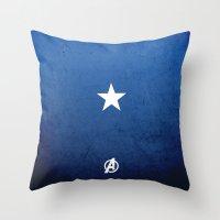 captain silva Throw Pillows featuring CAPTAIN by El Pigro