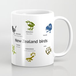 New Zealand Birds Coffee Mug