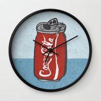 coke Wall Clocks featuring COKE 4EVR by Josh LaFayette