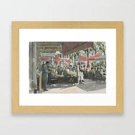 Café Metropole Framed Art Print