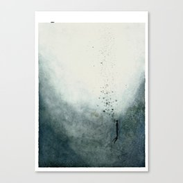 The Diver and the deep sea Canvas Print