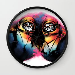 Close Encounters of the Purr Kind Wall Clock