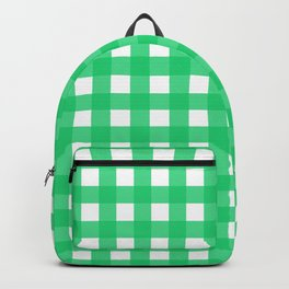 Farmhouse Gingham in Green Backpack