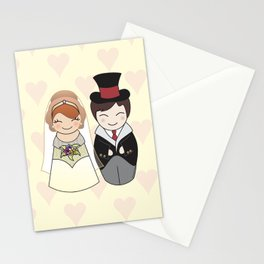 Kokeshis Just married Stationery Cards