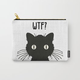 WTF - Black cat Carry-All Pouch