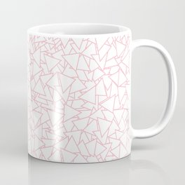 Pink and White Triangles Dizzy All-Over Pattern Coffee Mug