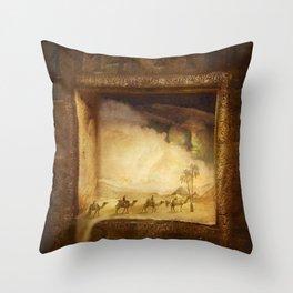 Caravanserei Throw Pillow