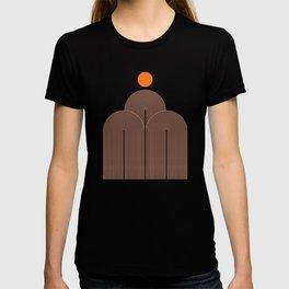 Abstraction_SUN_LINE_ART_MOUNTAINS_Minimalism_001 T-shirt