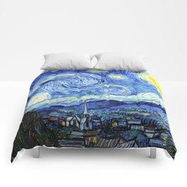 The Starry Night - Vincent van Gogh Comforters