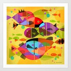 AQUATIC RAINBOW Art Print