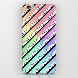 Rainbow Zebra Flesh iPhone Skin