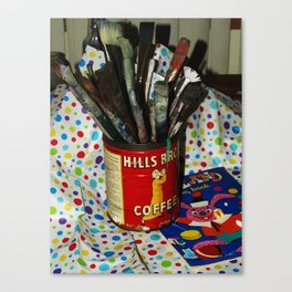 Brushes and Paint Canvas Print