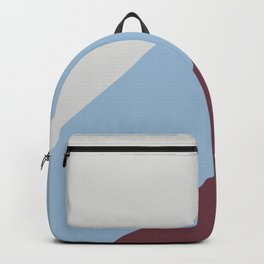 Pastel Blue Grey Burgundy Diagonal Stripe Pattern 2021 Color of the Year Earth's Harmony and Accents Backpack