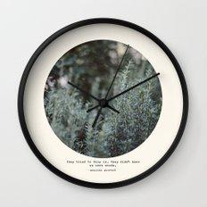 Bury Us 2 Wall Clock