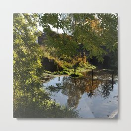 River by the mill  Metal Print