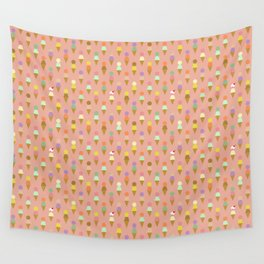 Ice Cream Cone Pattern Pink Robayre Wall Tapestry