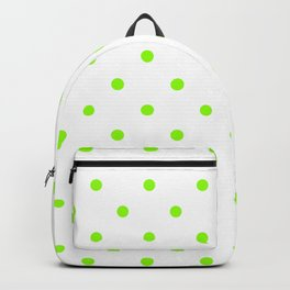 Polka Dots Pattern: Lime Green Backpack