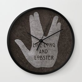 Live Long & Lobster Wall Clock