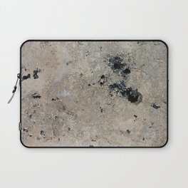 Abstract vintage black gray ivory marble Laptop Sleeve