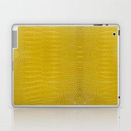 Yellow Alligator Leather Print Laptop & iPad Skin