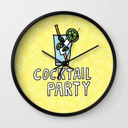 Fresh Mojito Cocktail Party Wall Clock
