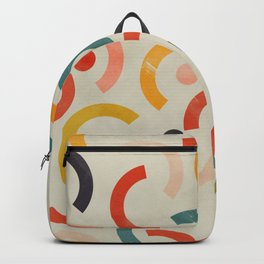 mid century geometric abstract Backpack