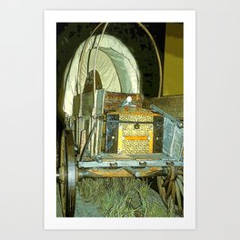 Covered Wagon Art Print