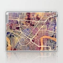 New Orleans City Street Map Laptop & iPad Skin