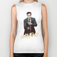 quentin tarantino Biker Tanks featuring Quentin by CromMorc