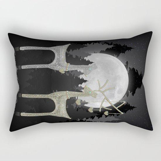 Love Joy Peace (Happy Holi-deer Sparkle)  Rectangular Pillow
