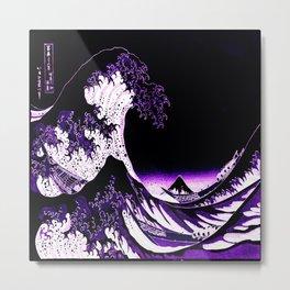 The Great Wave : Purple Metal Print