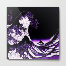 The Great Wave : Purple Metal Print