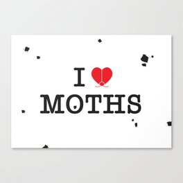 I Love Moths Canvas Print