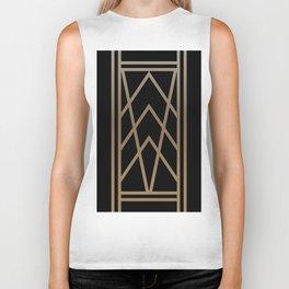 BLACK&GOLD 2 (abstract artdeco geometric) Biker Tank