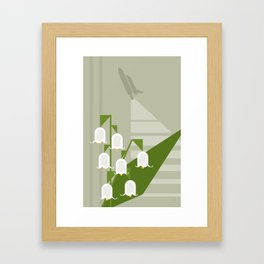 Flowers & Shuttles: Lily of the Valley Framed Art Print
