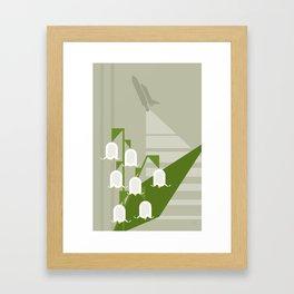 Flowers & Shuttles: Lily of the Valley Framed Art Print