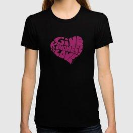 GIVE KINDNESS & LOVE - violet T-shirt