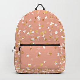 Floating Confetti - Peach and Gold Backpack