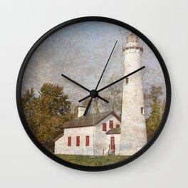Sturgeon Lighthouse Textured Wall Clock