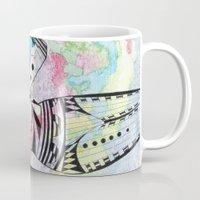 aquarius Mugs featuring Aquarius by Heaven7