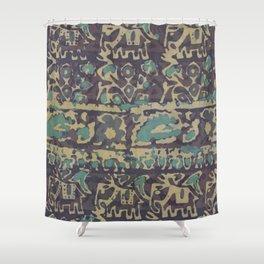 Elephant Batik Shower Curtain