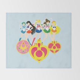 Sailor Soldiers Throw Blanket