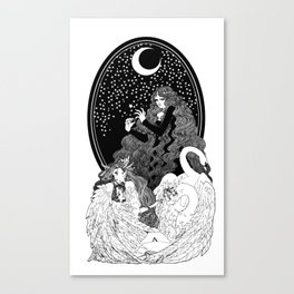 Aoife and the Children of Lír Canvas Print