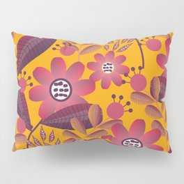 Floral spring fantasy in bright colors Pillow Sham
