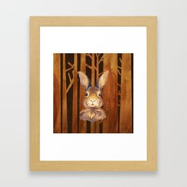 Rabbit in the forest - abstract animal hare watercolor illustration Framed Art Print