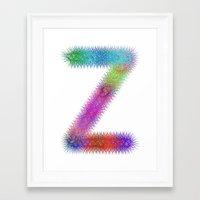 letter Framed Art Prints featuring Letter Z by David Zydd