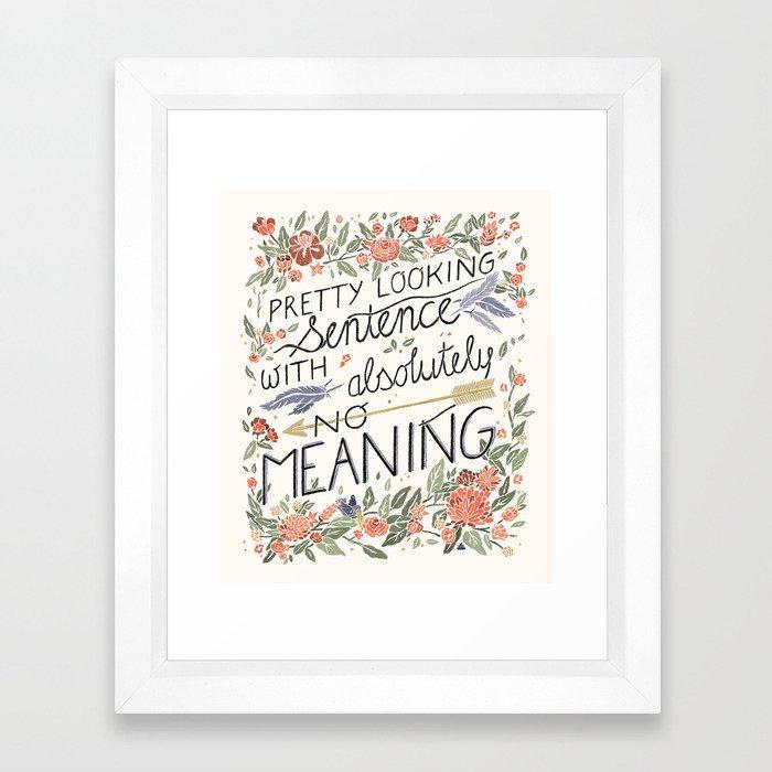 Pretty Sentence II Framed Art Print