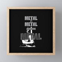 Metal, Metal and More Metal Framed Mini Art Print