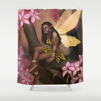 copper Shower Curtains featuring Copper by Brandy Woods