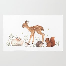 Woodland Friends Rug